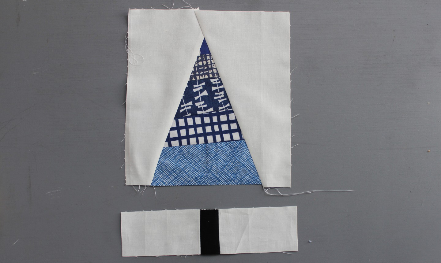 Blue tree with white cloth