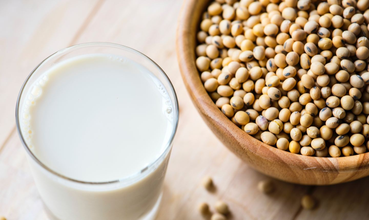 Soy milk and beans image