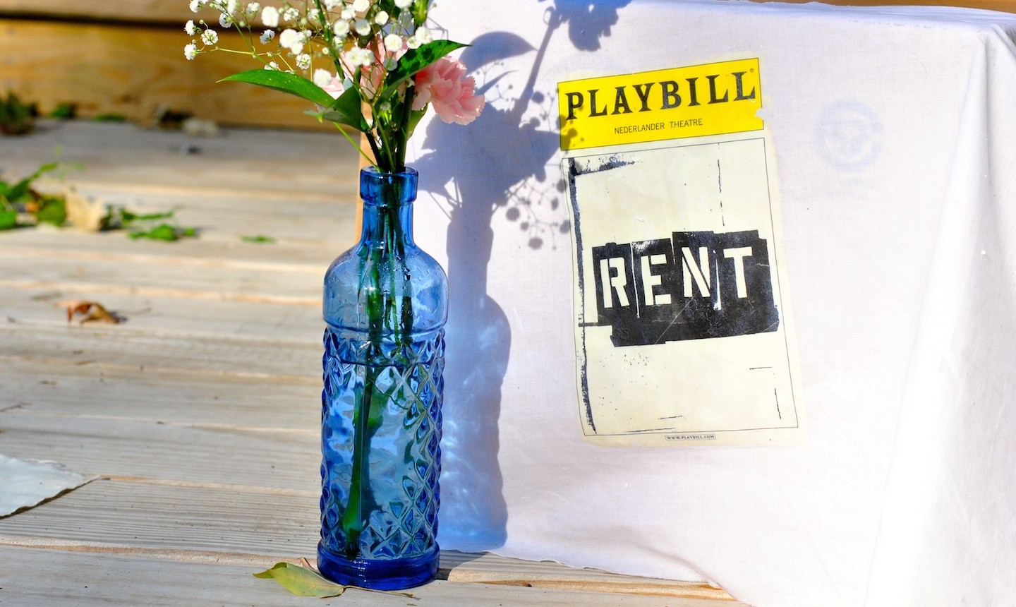 Flowers and playbill