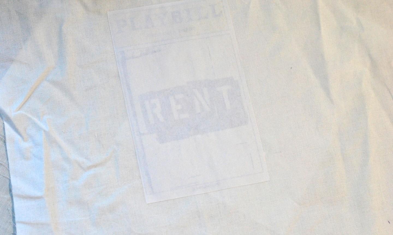 Rent playbill on a t-shirt