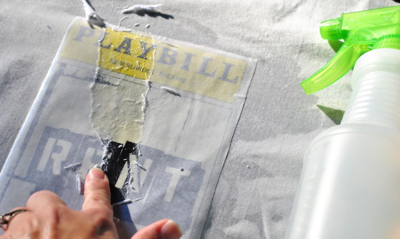 Sprayed playbill