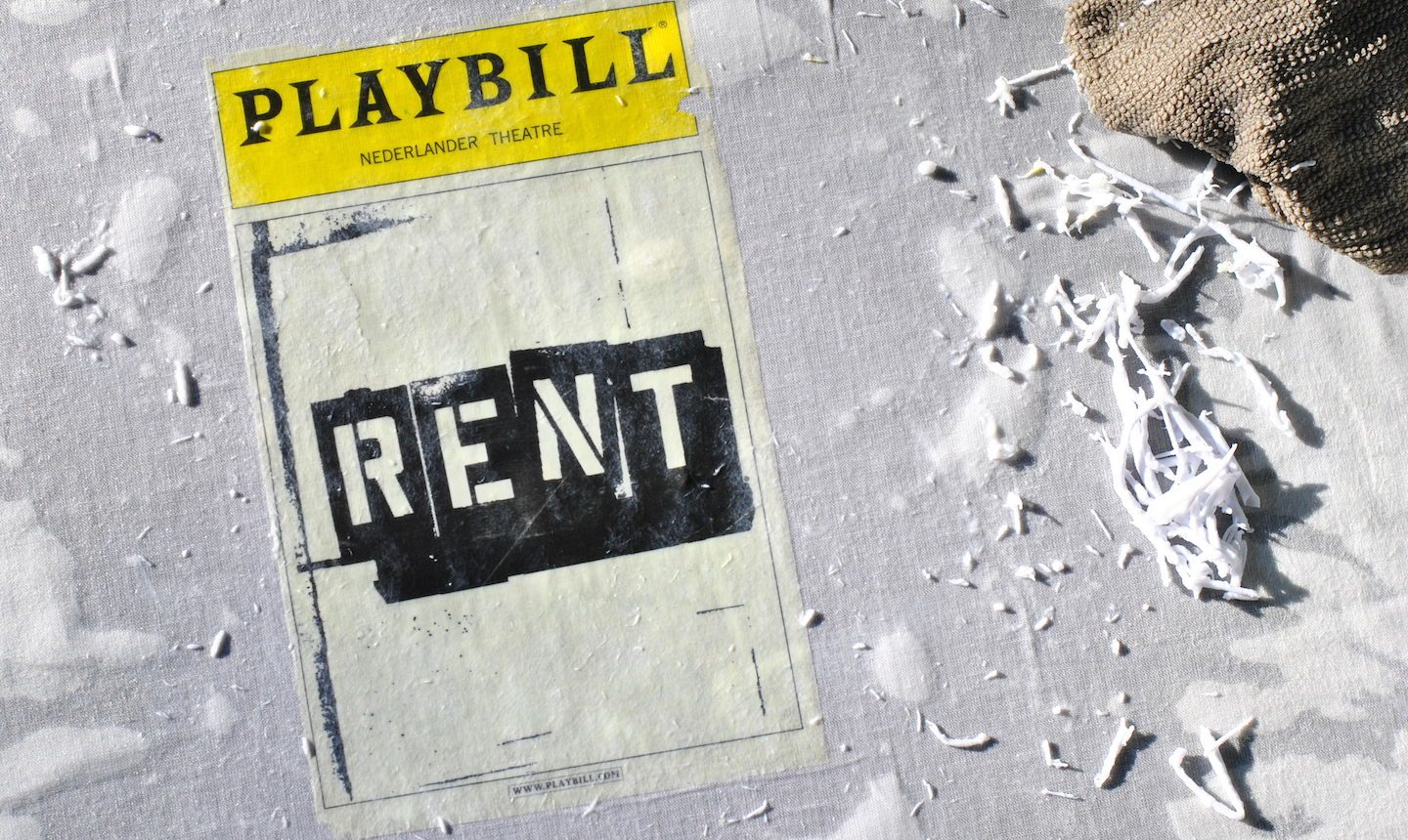 Playbill with paper rubbed off