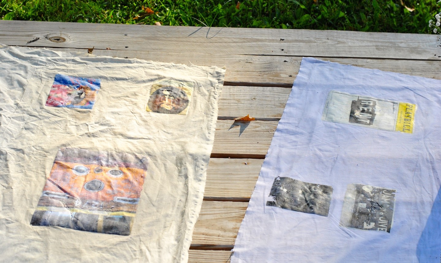 Drying transferred images