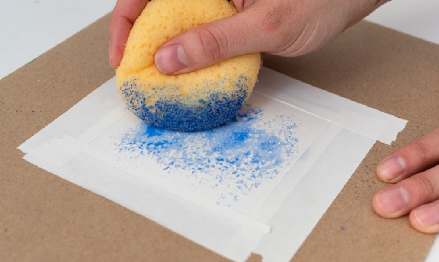 Stenciling with a sponge
