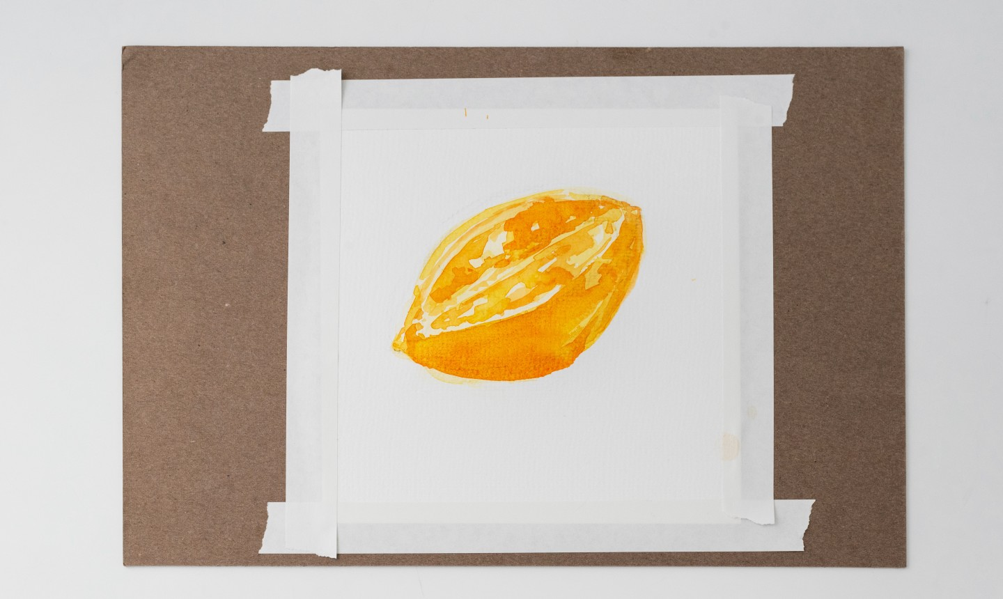 Painted yellow fruit