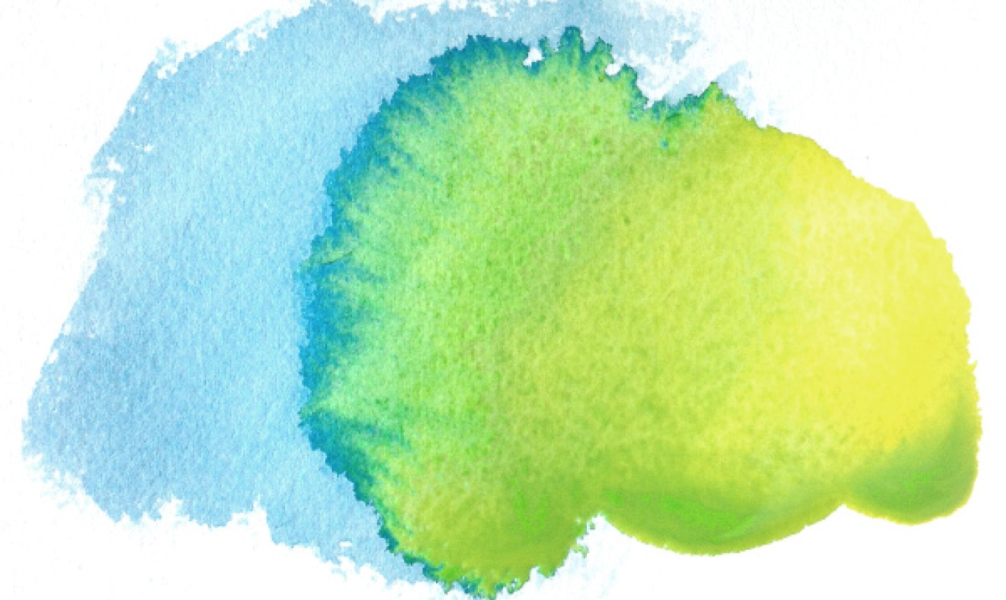 Blue and green watercolor spot