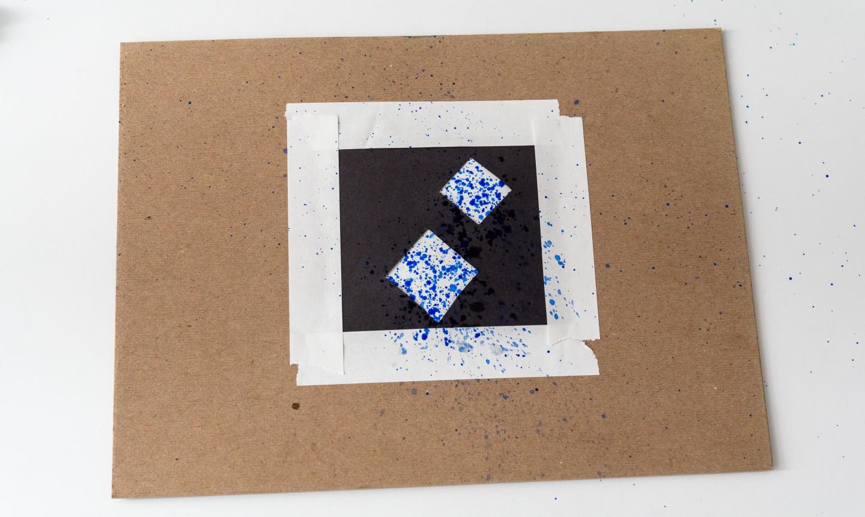 Splatter blue paint