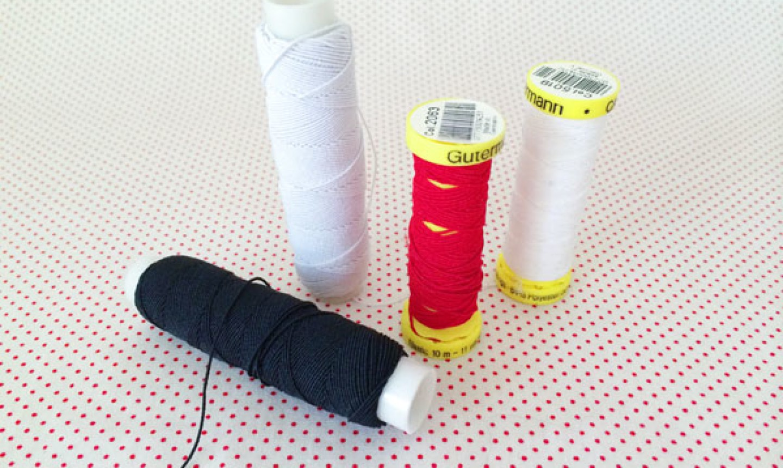 elastic thread spools
