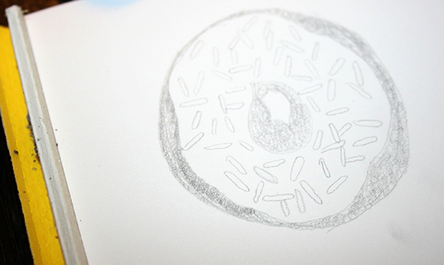 Sketch of a donut