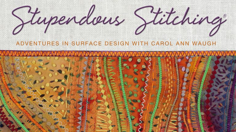 Stupendous Stitching: Adventures in Surface Design