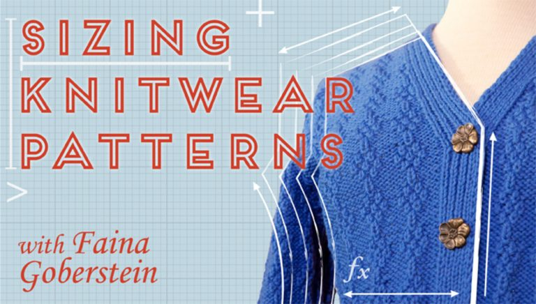 Sizing Knitwear Patterns