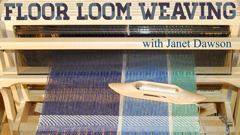 Floor Loom Weaving