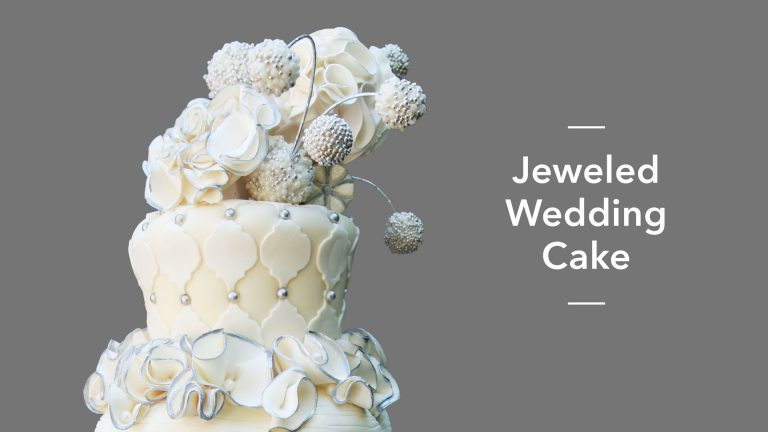 Jeweled Wedding Cake