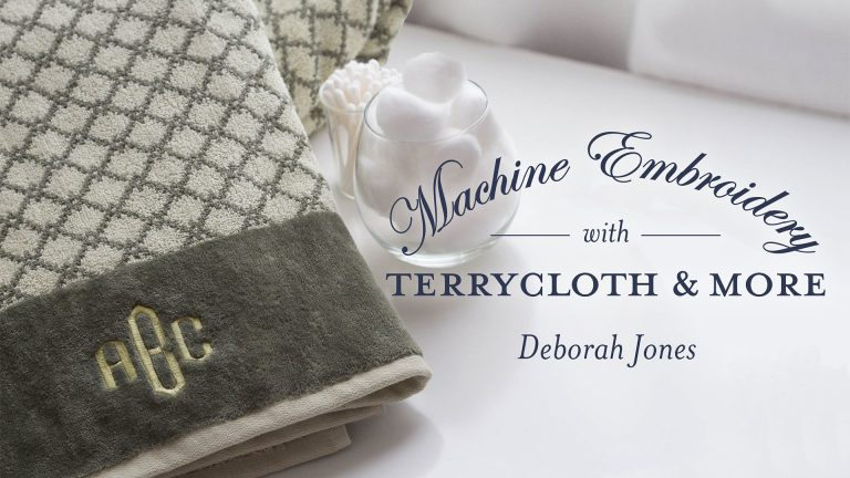 Machine Embroidery With Terrycloth & More