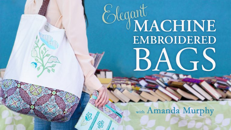 Elegant Machine Embroidered Bags