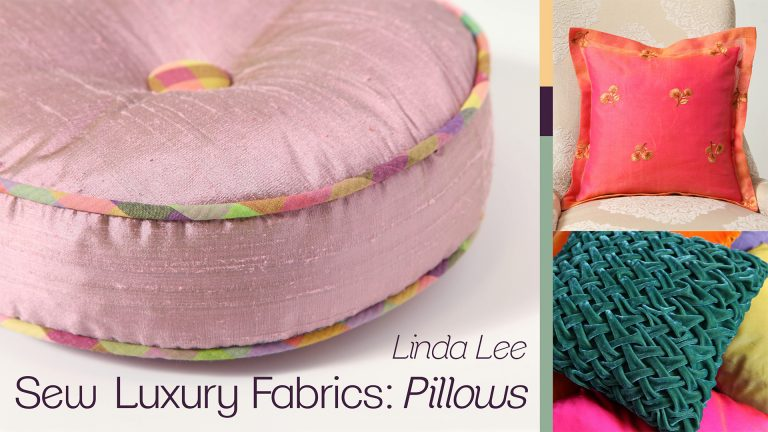 Sew Luxury Fabrics: Pillows