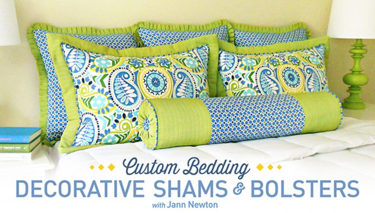 Custom Bedding: Decorative Shams & Bolsters