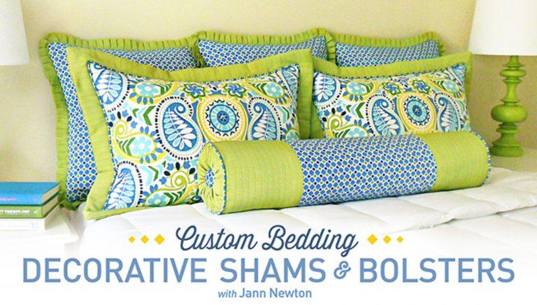 Custom Bedding: Decorative Shams & Bolsters