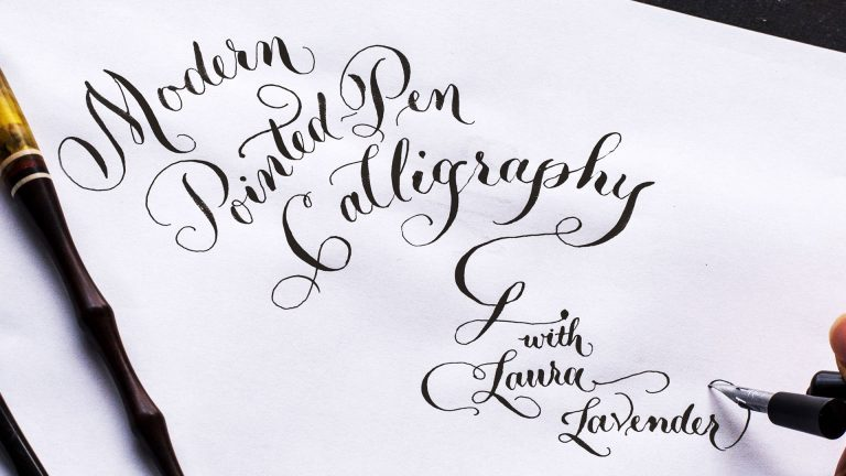 Modern Pointed-Pen Calligraphy