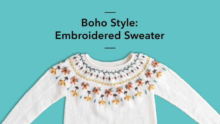 Boho Style: Embroidered Sweater