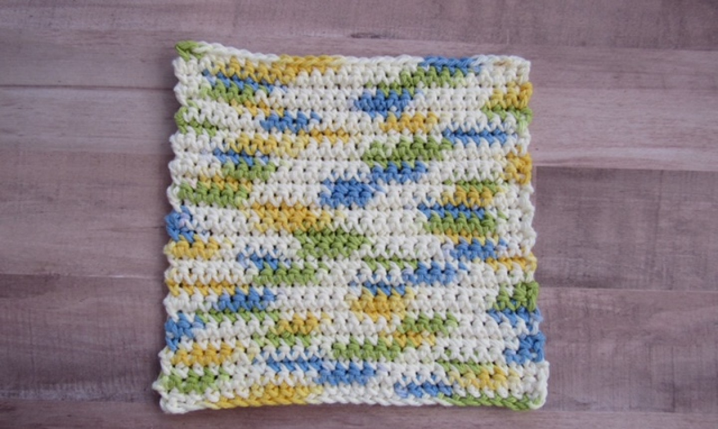 Square of completed crochet