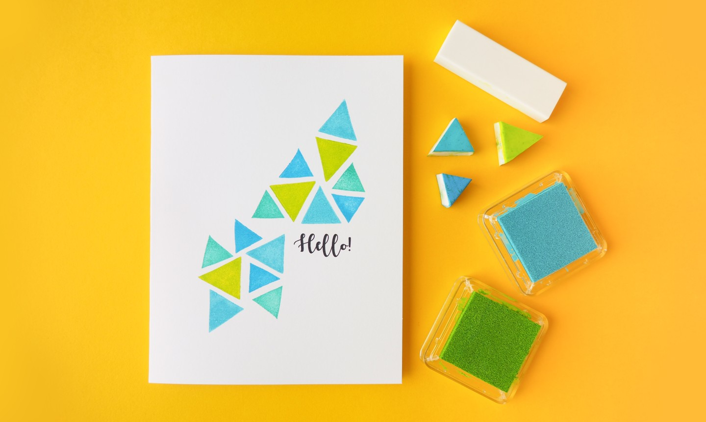 Triangle stamped card