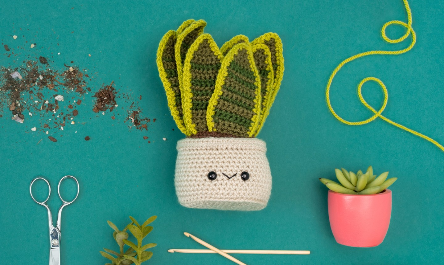 Crochet plants with tools