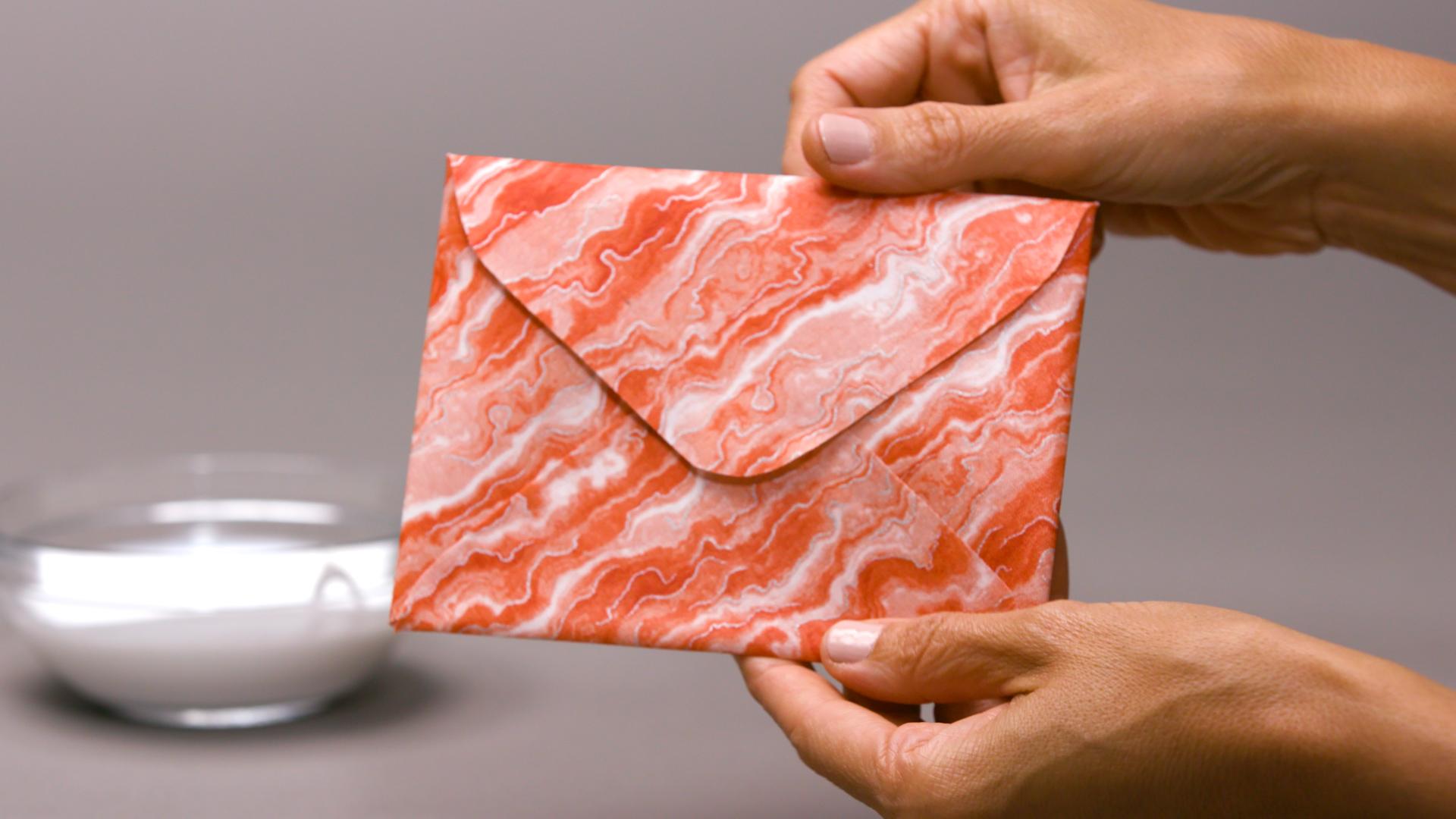 orange fabric envelope