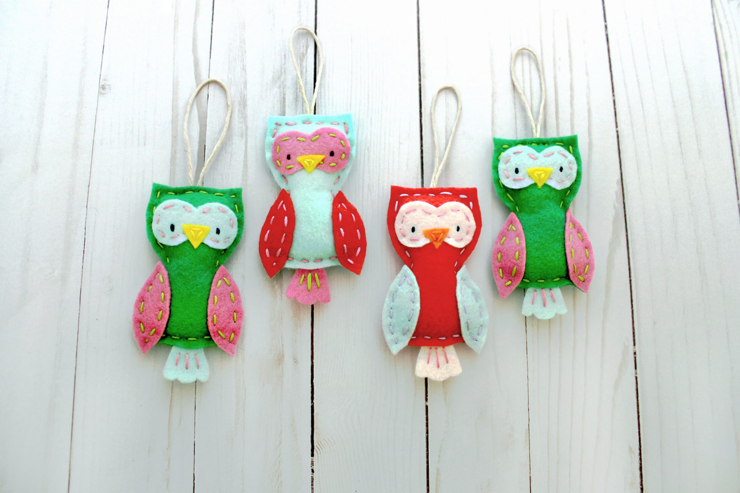 Your Home Needs A Whole Flock Of These Felt Owl Ornaments Craftsy