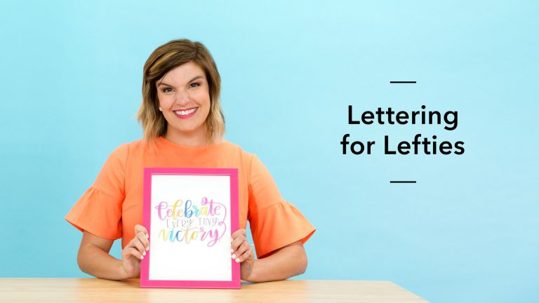 Lettering for Lefties