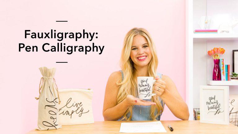 Fauxligraphy: Pen Calligraphy
