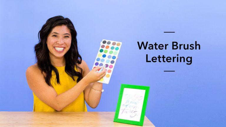 Water Brush Lettering