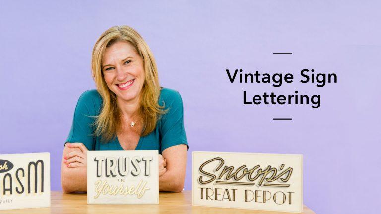 Vintage Sign Lettering