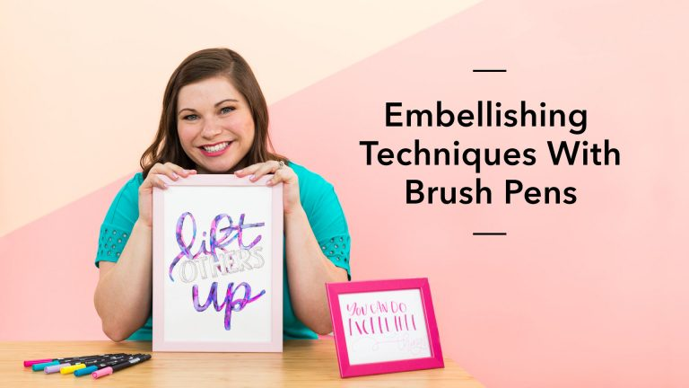 Embellishing Techniques With Brush Pens