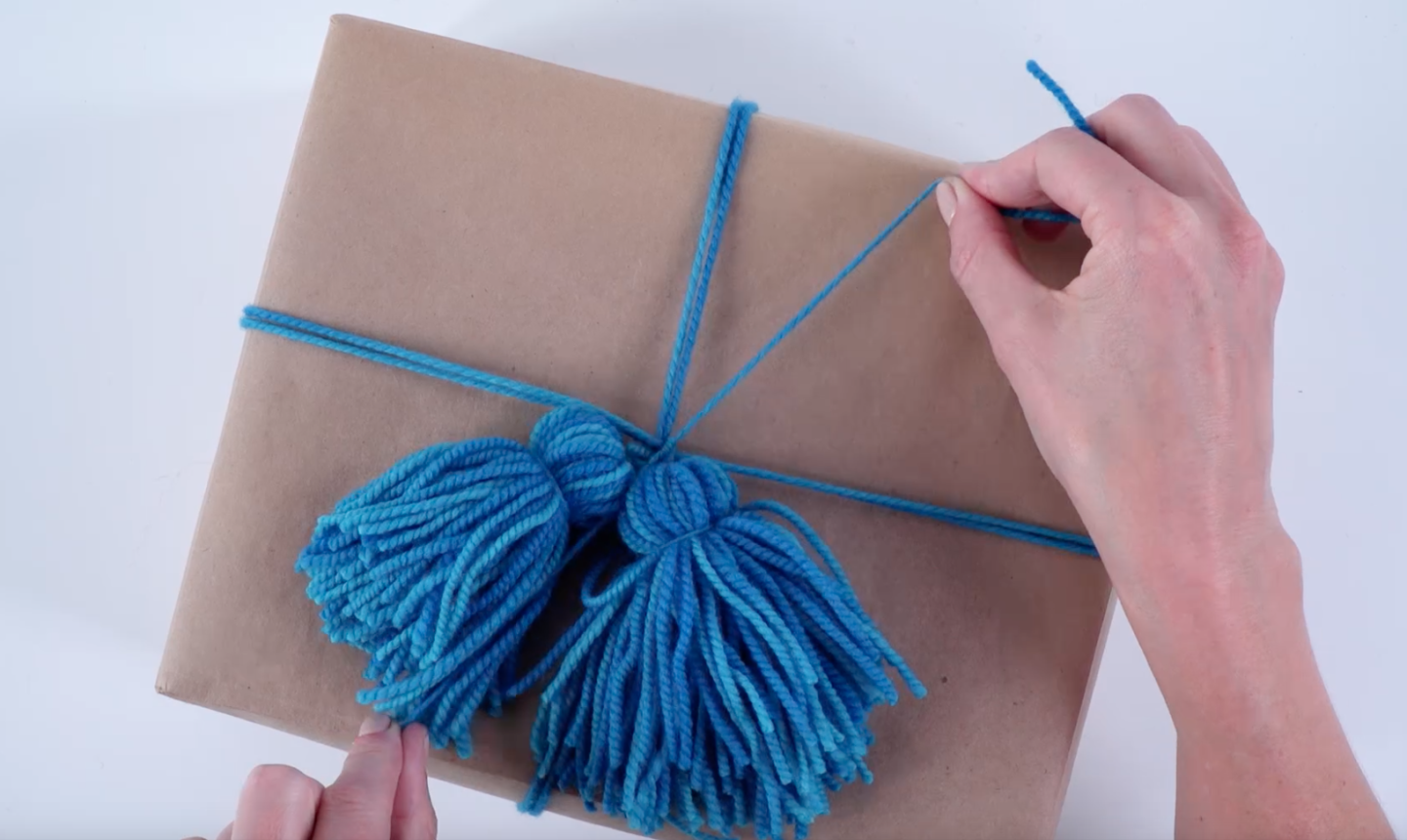 wrapping gifts in tassels