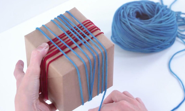 wrapping yarn gift