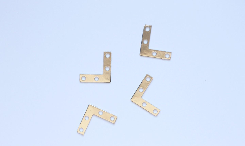 four metal brackets