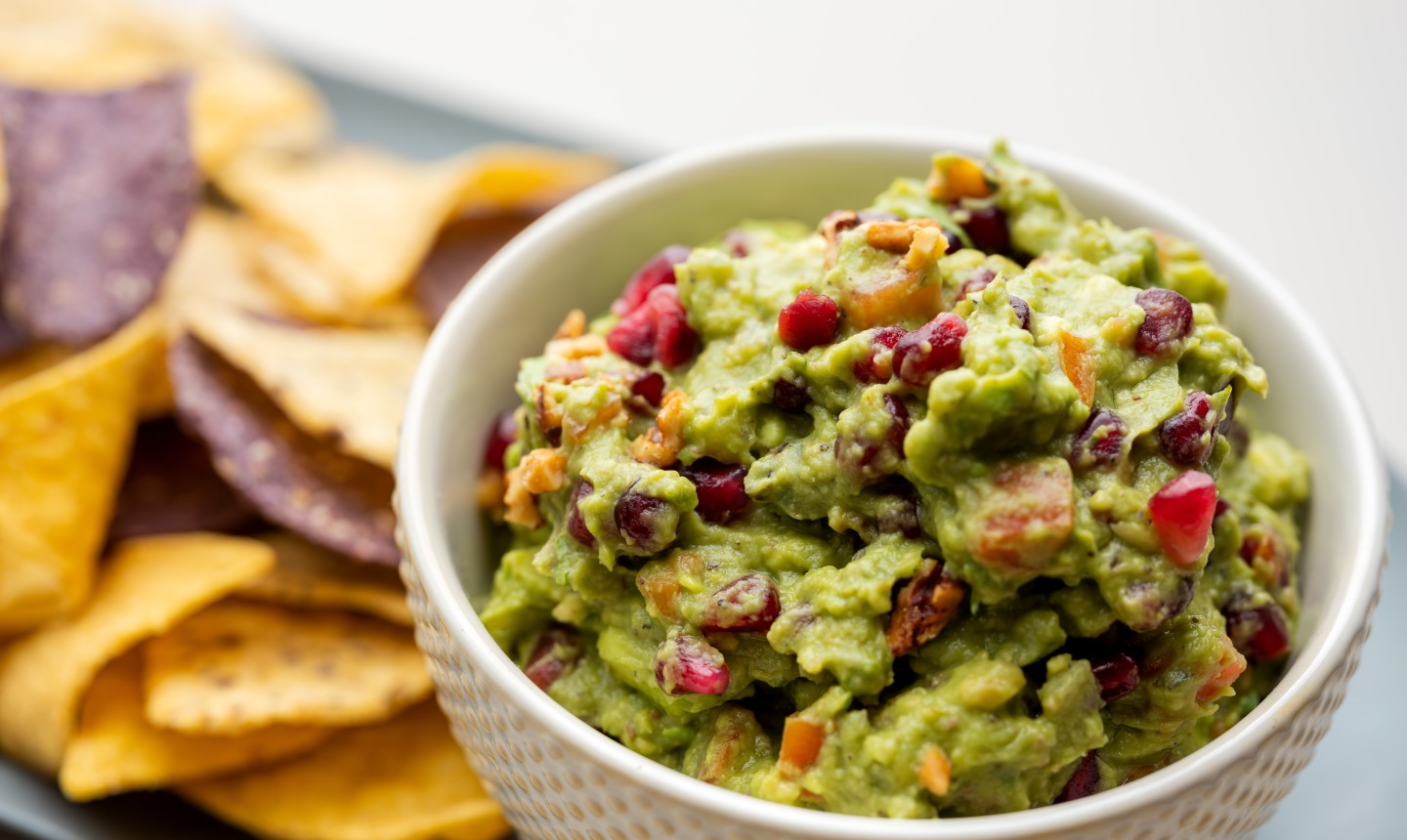 Pomegranate-Walnut Guacamole