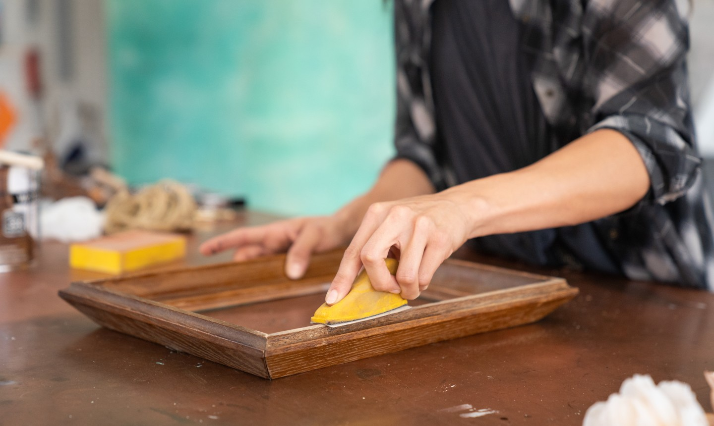 sanding picture frame