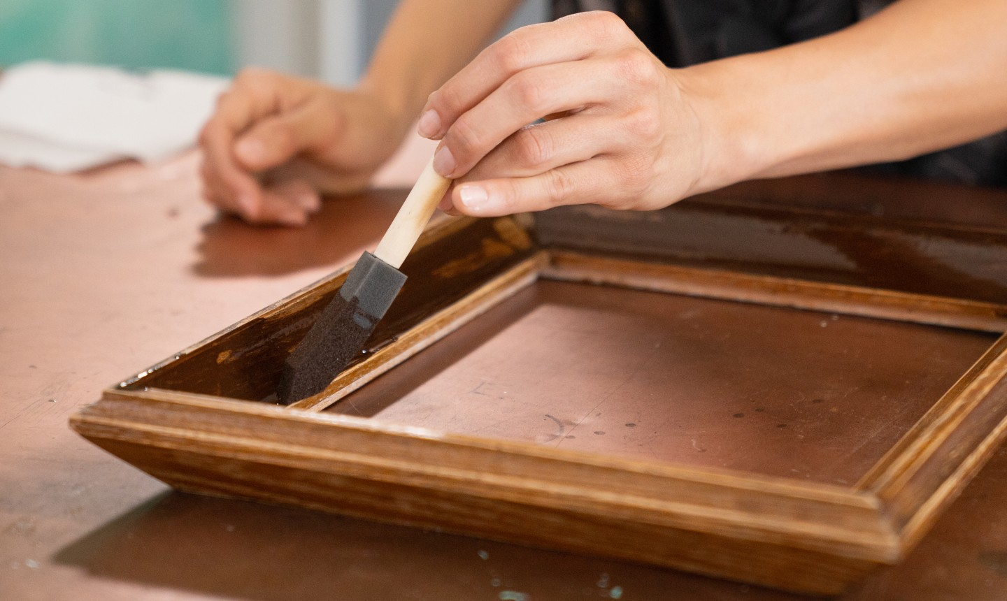 staining picture frame