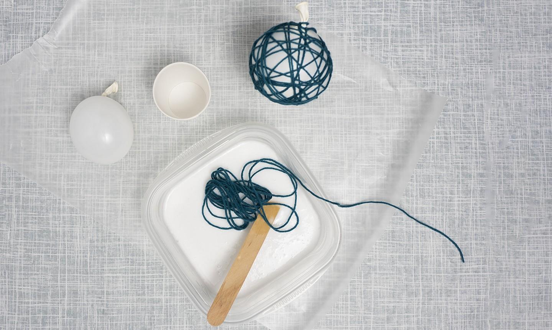 making yarn ornaments