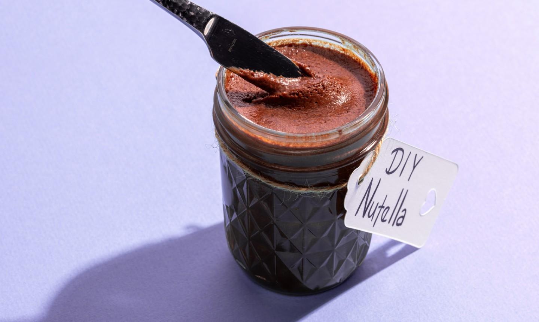 nutella in a mason jar