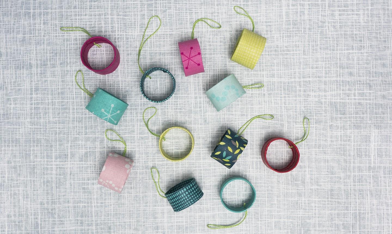 fabric scrap ornaments