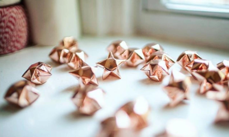 bronze paper stars