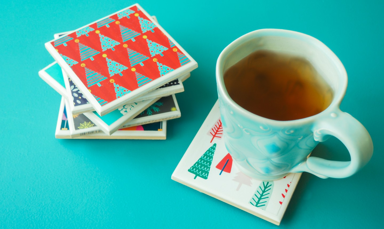 christmas card coaster