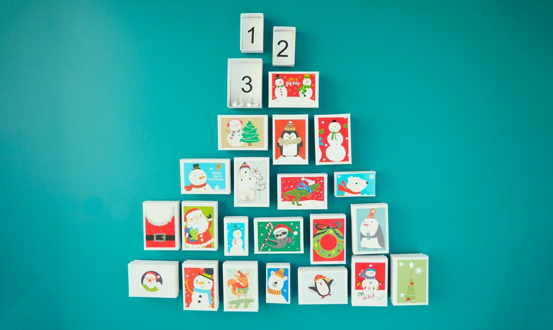 christmas card advent calendar