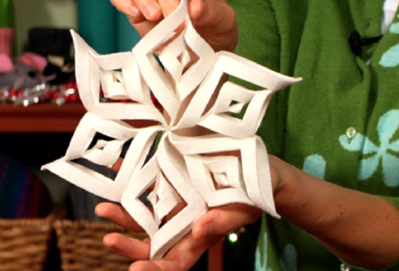 felt snowflake ornament