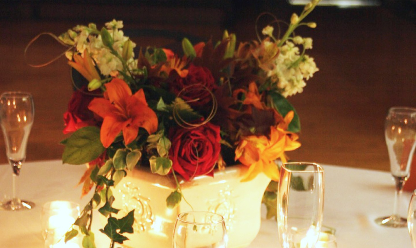 wedding flower centerpiece