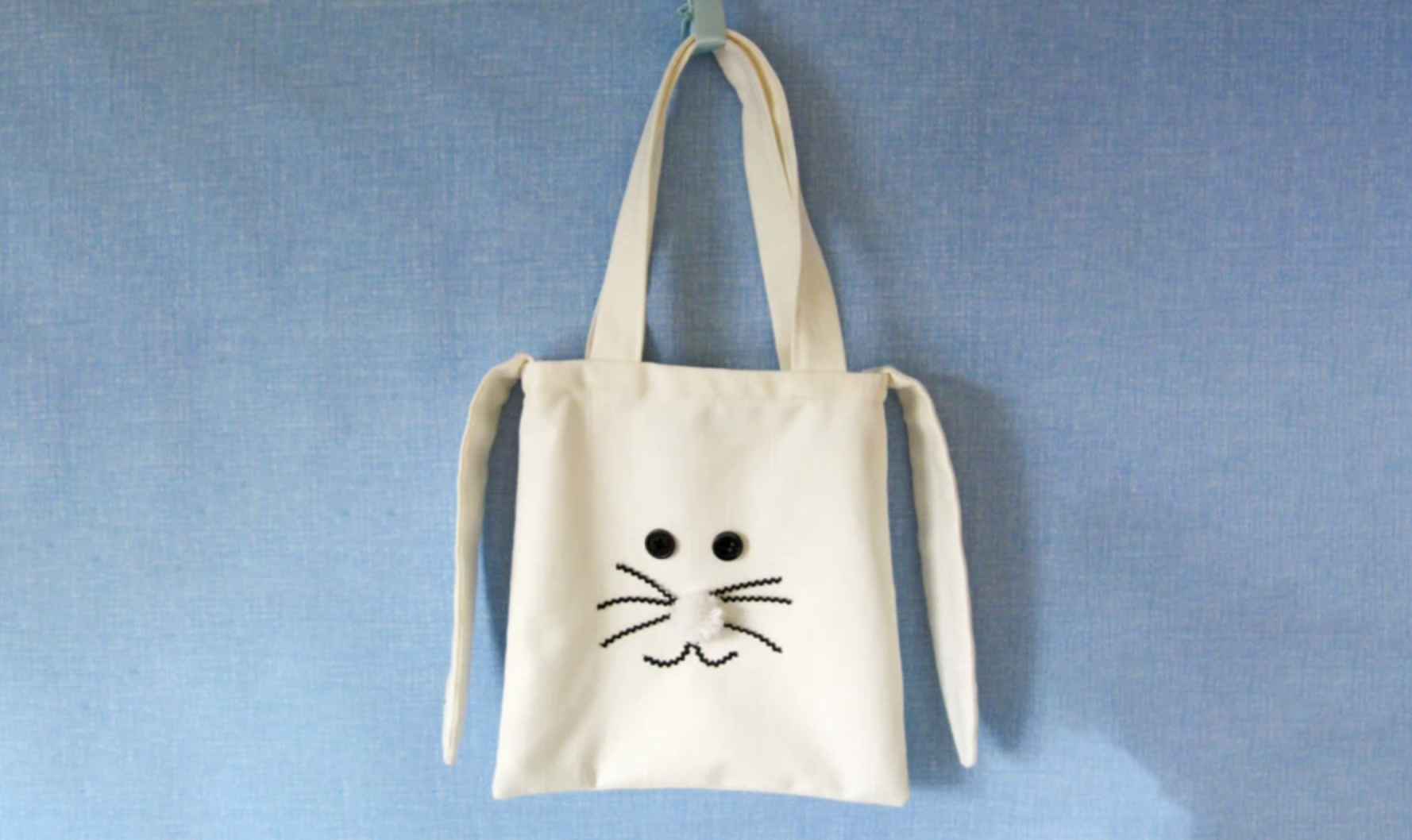 bunny easter tote bag