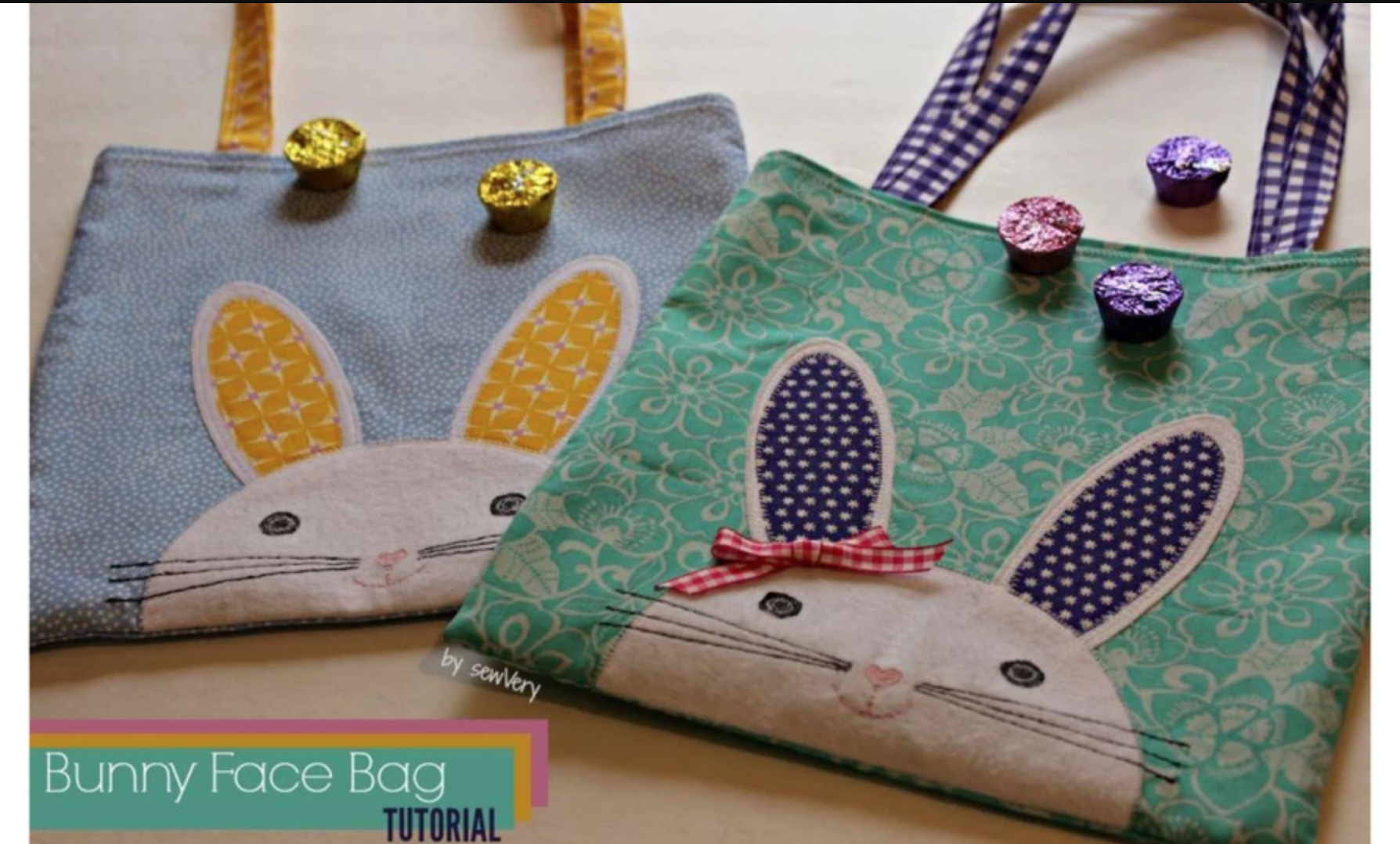 bunny face bags
